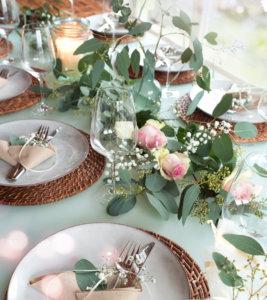 youthful whimsy wedding table setting