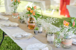 rustic beauty wedding table setting