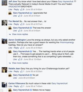 IMG: screenshot of Gary Vaynerchuck facebook page
